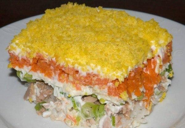 Рецепт салата «Мимоза».